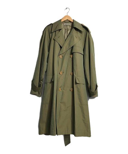 mila schon(ミラ ショーン)mila schon (ミラ ショーン) OLDタマムシトレンチコート グリーン サイズ:46の古着・服飾アイテム