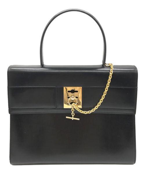 CELINE(セリーヌ)CELINE (セリーヌ) [OLD]ガンチーニレザーハンドバッグ ブラック サイズ:不明の古着・服飾アイテム