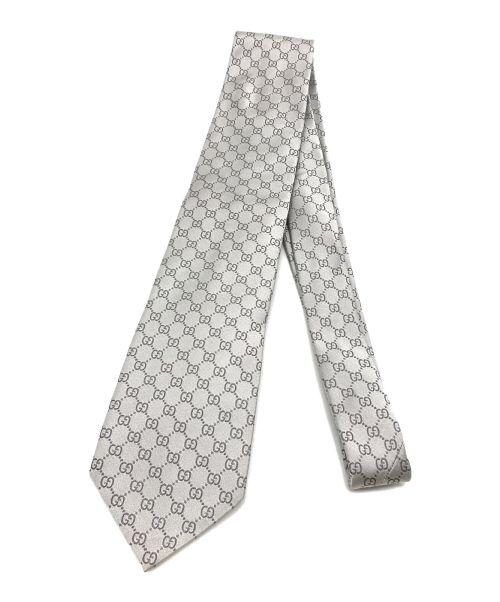 GUCCI(グッチ)GUCCI (グッチ) GG柄タイ グレー サイズ:不明の古着・服飾アイテム