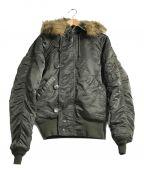 ALPHA()の古着「N-2Bジャケット」|セージグリーン