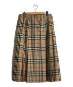 Burberry's()の古着「チェックウールスカート」|ブラウン