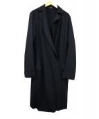 HUGO BOSS(ヒューゴボス)の古着「ガウンコート」|ブラック