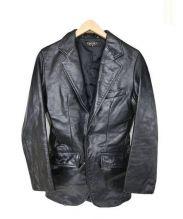 HORN WORKS(ホーンワークス)の古着「レザージャケット」 ブラック