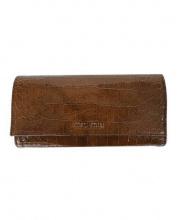 MIUMIU(ミュウミュウ)の古着「長財布」|ブラウン
