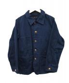 45rpm(45アールピーエム)の古着「インディゴ染めカバーオール」