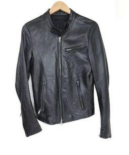 BOISNONVERNI(ボイスノンヴァーニ)の古着「ホースハイドシングルライダースジャケット」 ブラック
