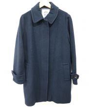 IENA SLOBE(イエナスローブ)の古着「比翼ウールコート」|ネイビー