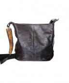 Yves Saint Laurent(イヴ サン ローラン)の古着「レザーショルダーバッグ」|ブラウン