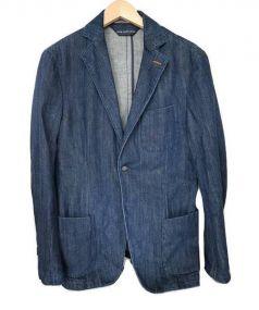 JACOB COHEN(ヤコブコーエン)の古着「ウォッシュドコットンデニムジャケット」|インディゴ