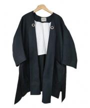 VONDEL(フォンデル)の古着「Vカットガウンコート」|ブラック