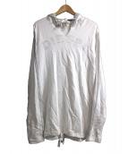 DIESEL(ディーゼル)の古着「プルオーバーパーカー」 ホワイト