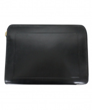 LUGGAGE LABEL(ラゲッジ レーベル)の古着「レザークラッチバッグ」|ブラック