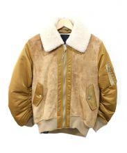 DENHAM(デンハム)の古着「SUEDE BOMBER MA1」|ベージュ