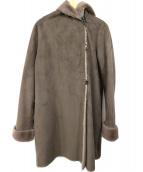 ROSSO(ロッソ)の古着「フェイクムートンロングコート」|グレー