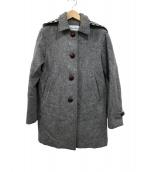 STEVEN ALAN(スティーブンアラン)の古着「メルトンフーデットコート」|グレー