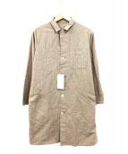 COMMONO reproducts(コモノ リプロダクツ)の古着「コットンチェックステンカラーコート」|ブラウン