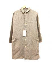 COMMONO reproducts(コモノ リプロダクツ)の古着「コットンチェックステンカラーコート」 ブラウン