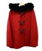 ef-de(エフデ)の古着「ファーフードコート」|レッド