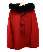 ef-de(エフデ)の古着「ファーフードコート」 レッド