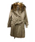 UNITED ARROWS(ユナイテッド アローズ)の古着「ファートレンチコート」|ベージュ