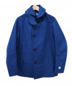 ORCIVAL(オーチバル)の古着「ボンディングフーデットジャケット」|ブルー