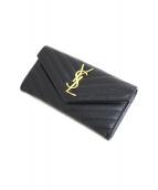 SAINT LAURENT PARIS(サンローラン パリ)の古着「長財布」|ブラック