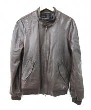 MONTEDORO(モンテドーロ)の古着「レザージャケット」|ブラウン