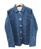 GRANDMA MAMA DAUGHTER(グランマママドーター)の古着「コットンカバーオール」|ブルー