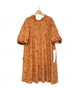latelier du savon(アトリエドゥサボン)の古着「ハイネック刺繍ブラウスワンピース」