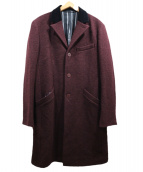 agnes b homme(アニエスベーオム)の古着「バイカラーチェスターコート」 ボルドー