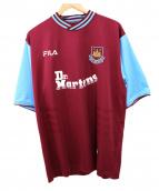 FILA(フィラ)の古着「サッカーユニフォーム」 ワインレッド