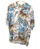SUN SURF(サンサーフ)の古着「アロハシャツ」 ベージュ