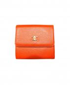 CHANEL(シャネル)の古着「2つ折り財布」|オレンジ