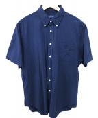 POLO RALPH LAUREN(ポロ バイ ラルフローレン)の古着「シアサッカーシャツ」 ネイビー