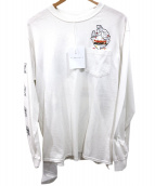 FLAGSTUFF(フラッグスタッフ)の古着「ロングスリーブカットソー」|ホワイト