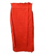 Droite lautreamont(ドロワットロートレアモン)の古着「リボンスカート」|レッド