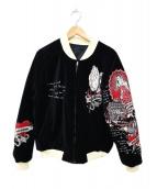 BLOOD MESSAGE(ブラッドメッセージ)の古着「リバーシブルジャケット」|ブラック