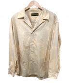 HURRAY HURRAY(フレイフレイ)の古着「ムラ染オープンカラーシャツ」|ベージュ