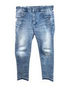 Marea Erre(マレアエッレ)の古着「ペンキ加工カットオフデニム」|ブルー
