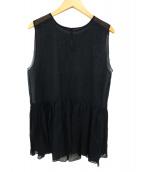 Demi-Luxe BEAMS(デミルクスビームス)の古着「シースルーチュニック」|ブラック