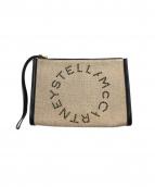 STELLA McCARTNEY(ステラ マッカートニー)の古着「クラッチバッグ」|ベージュ×ブラック