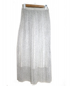 SACRA(サクラ)の古着「プリーツスカート」 ホワイト