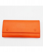 CELINE(セリーヌ)の古着「長財布」|オレンジ