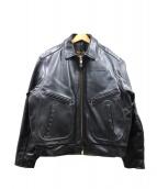 VANSON(バンソン)の古着「ライダースジャケット」|ブラック