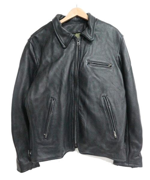 orchard(オーチャード)orchard (オーチャード) ライダースジャケット ブラック サイズ:44の古着・服飾アイテム