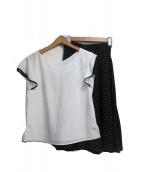JUSGLITTY(ジャスグリッティ)の古着「ブラウス&スカートセット」|ホワイト