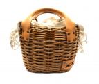 ebagos(エバゴス)の古着「2本編みカゴバッグ」|ナチュラル×ブラウン