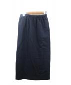 ROBE DE CHAMBRE COMME DES GARCONS(ローブドシャンブルコムデギャルソン)の古着「ギャザースカート」|ネイビー