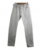 Stevenson Overall Co.(スティーブンソンオーバーオール)の古着「デニムパンツ」|ホワイト