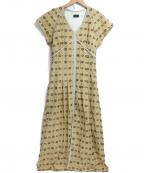 NINE(ナイン)の古着「ラメジャガードワンピース」|アイボリー